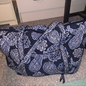 Vera Bradley Miller Travel Bag -Blue Bandana